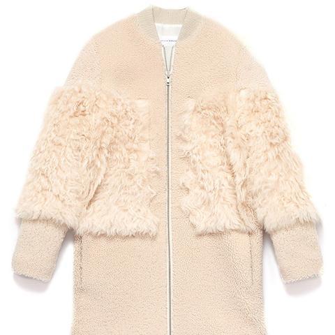 Shearling Blocked Coat