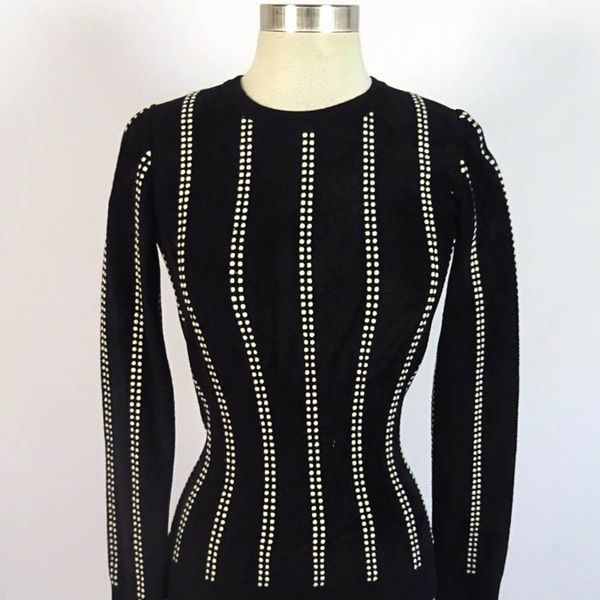 Alaïa Paris Soft Fitted Zip Up Sweater