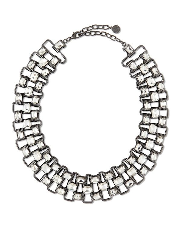 R.J. Graziano Crystal & Chain Collar Necklace