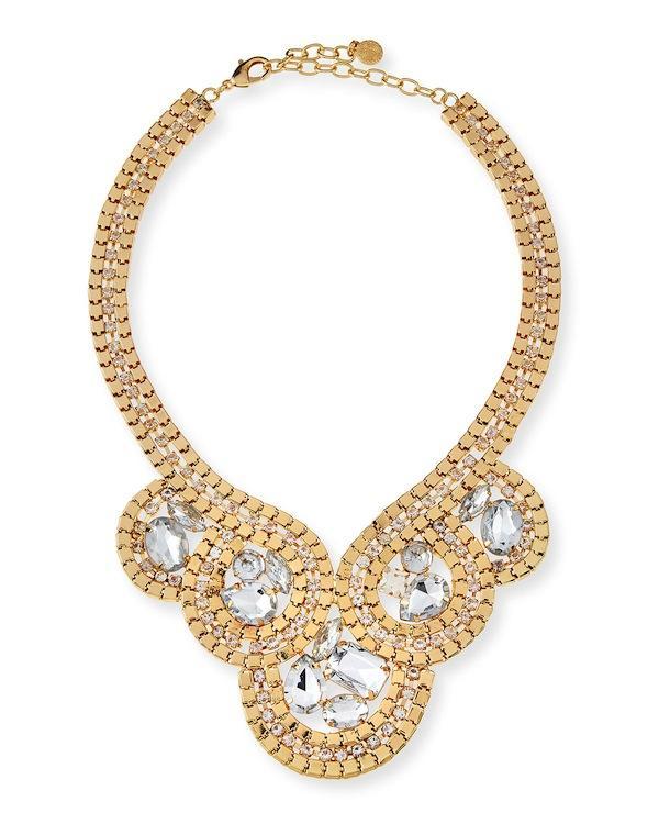 R.J. Graziano Swirl Statement Collar Necklace