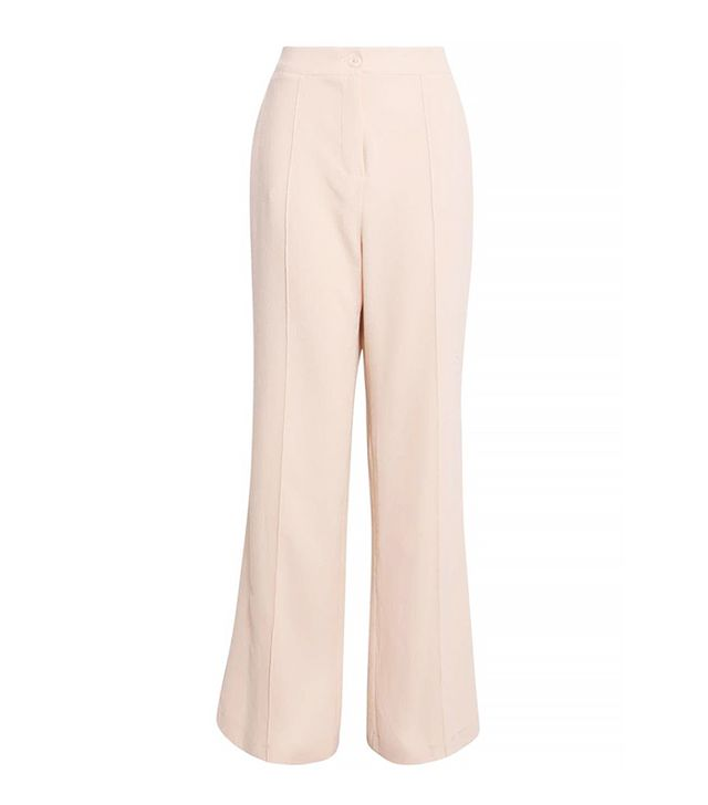 Boohoo Violet Tailored Wide Leg Trousers