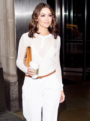 Olivia Culpo Masters Monochrome Dressing