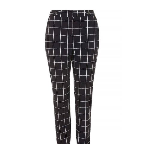 Checked Cigarette Pants