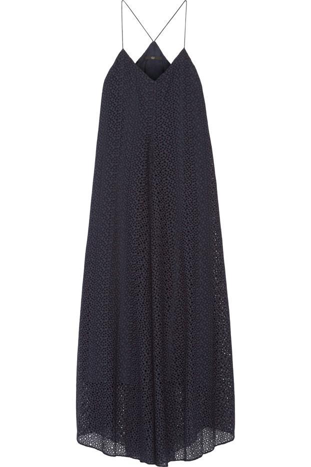 Tibi Broderie Anglaise Cotton Midi Dress