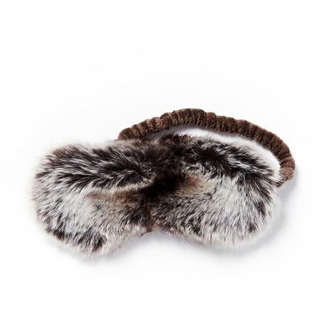 Faux Fur Ombre Stripe Eye Mask