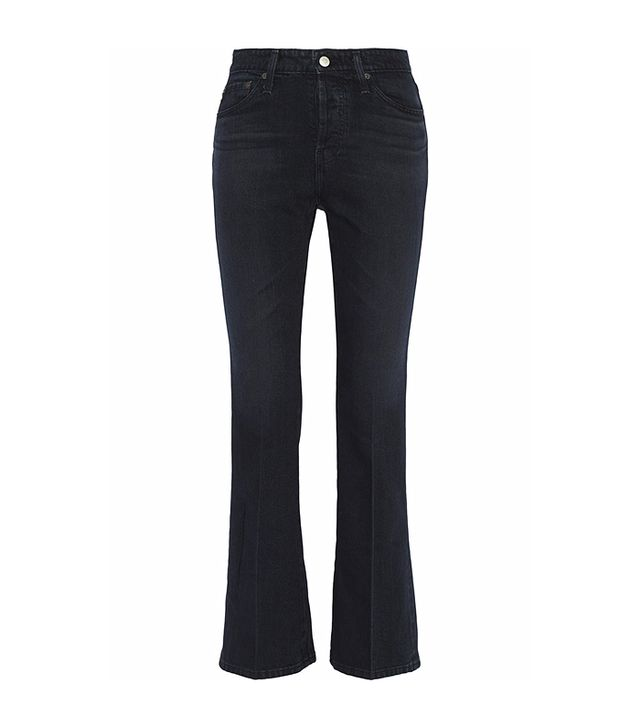 Alexa Chung for AG Jeans High-Rise Cropped Bootcut Jeans