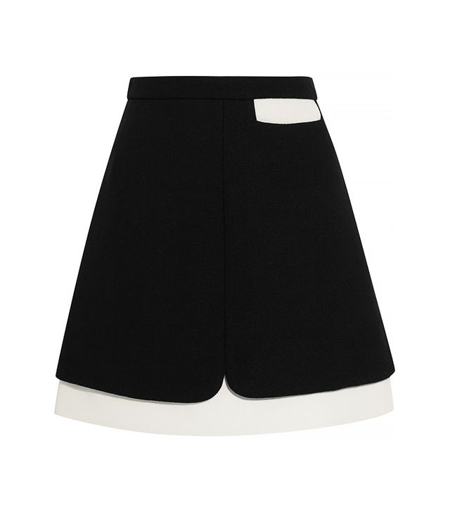 Giambattista Valli Wool-Blend Mini Skirt