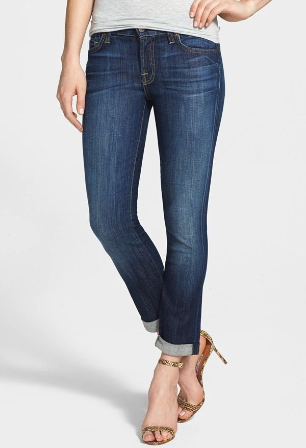7 for All Mankind Crop Skinny Jeans