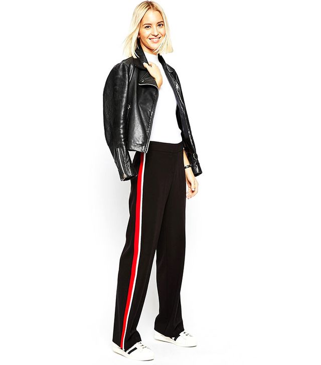 ASOS Wide Leg Pant with Side Stripe