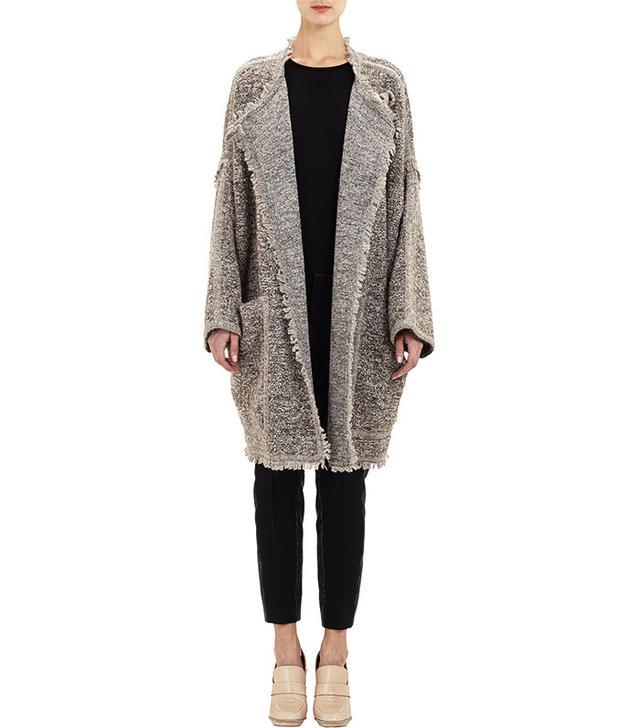 Chloe Melange Boucle Coat