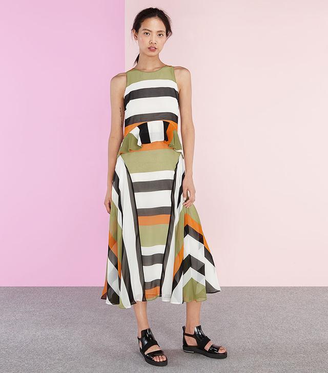Finery Carter Stripe Maxi Dress