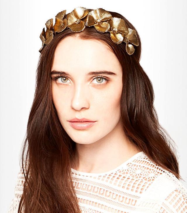 Jennifer Behr Poppy Gold-Tone Headband