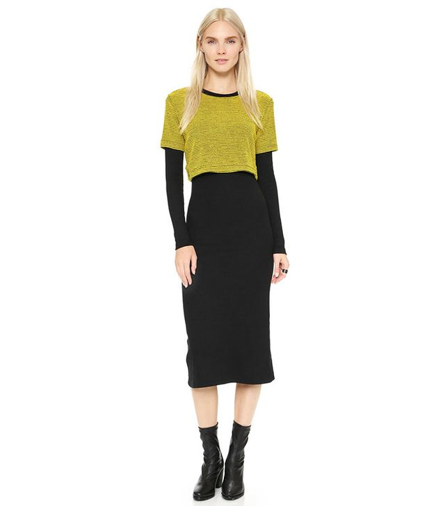 Opening Ceremony Dimensional Thermal Layered Dress