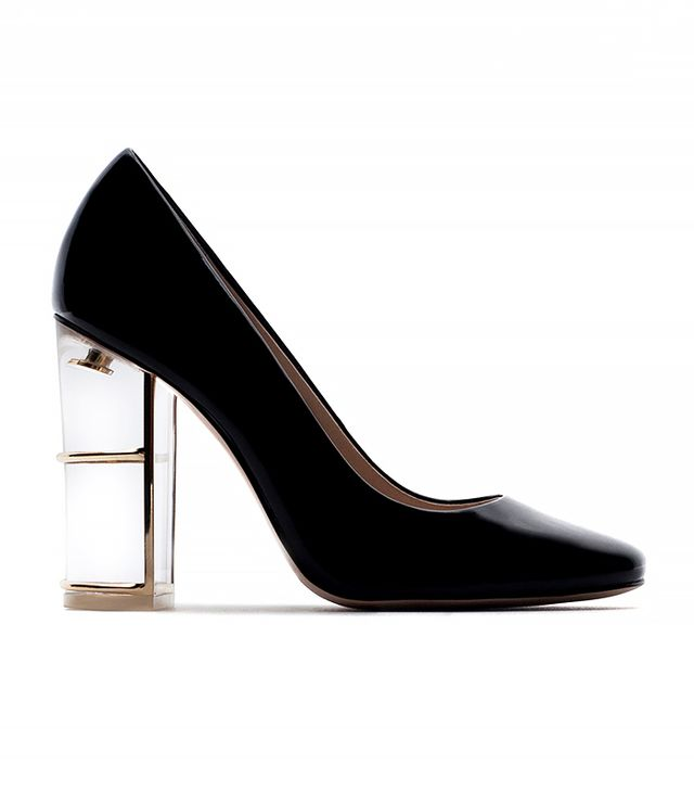 Zara Court Shoes With Heel Detail