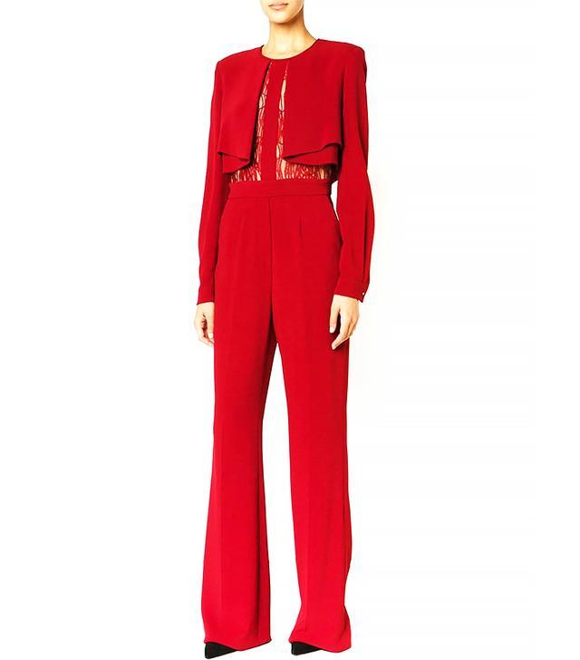 Elie Saab Lace Paneled Layered Jumpsuit