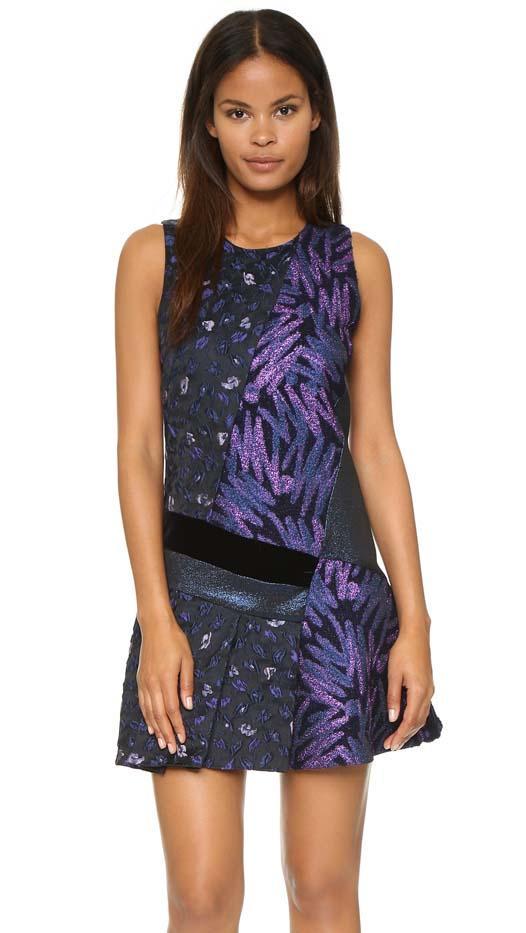 Cynthia Rowley Patchwork Disco Zigzag Dress