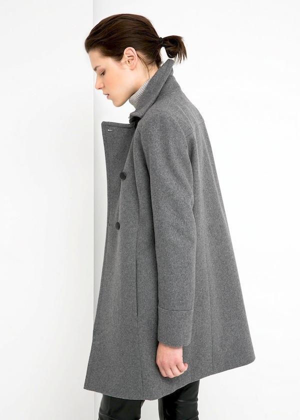 Mango Wool-Blend Convertible Coat