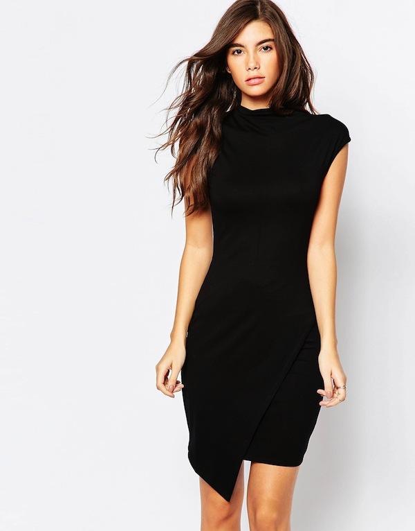 ASOS Asymmetric High Neck Body-Conscious Dress