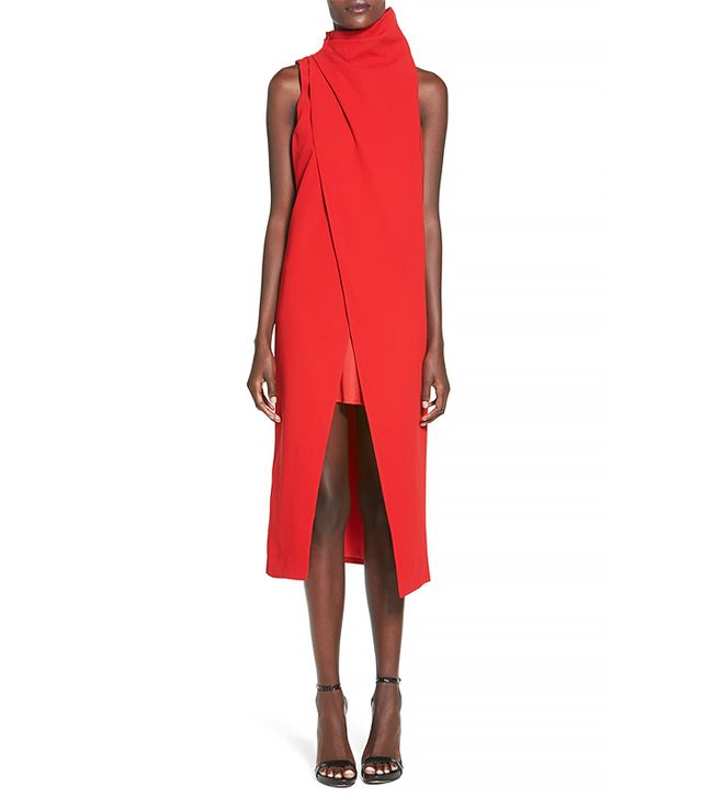 C/Meo Collective Fading Hearts Wrap Front Layer Dress
