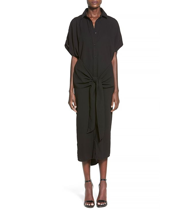 C/Meo Collective No Limit Tie Front Midi Shirtdress
