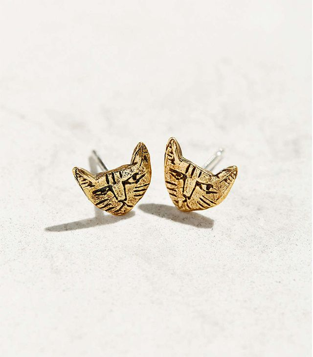 Datter Industries Tiny Cat Stud Earrings