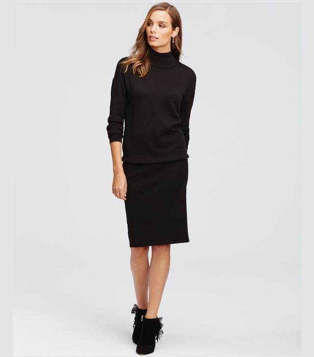 Ann Taylor Tall Mock Neck Sweater Dress