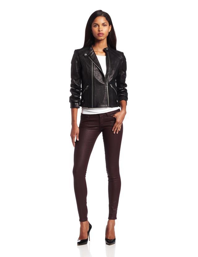 Sam Edelman Deanna Double Zip Leather Jacket