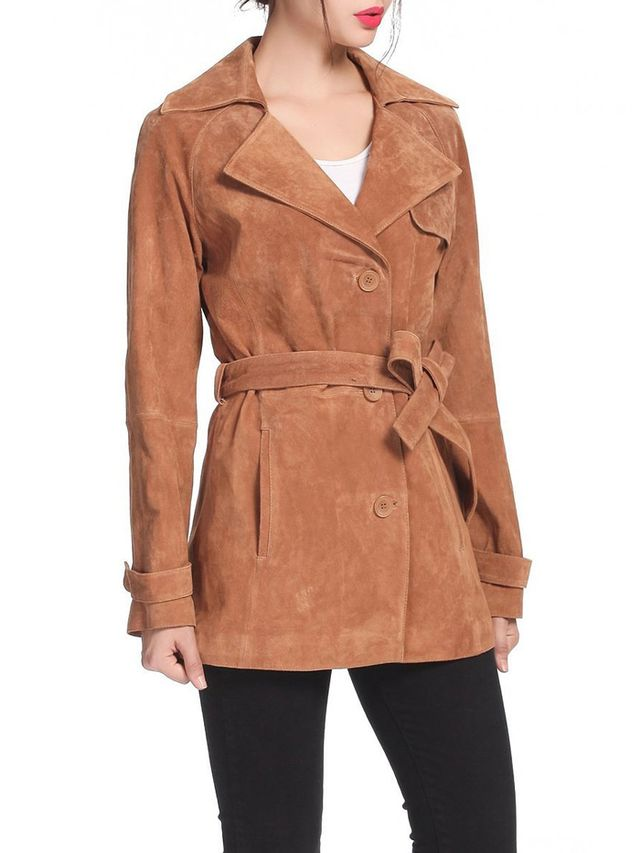 BGSD Beverly Suede Trench Coat