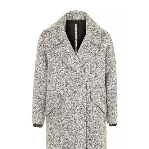 Slouchy Boucle Wool Blend Coat