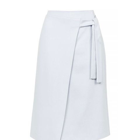Wrap Tie Midi Skirt