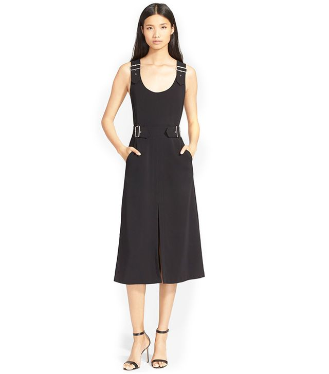 A.L.C. Alice Sleeveless Buckled Crepe Dress