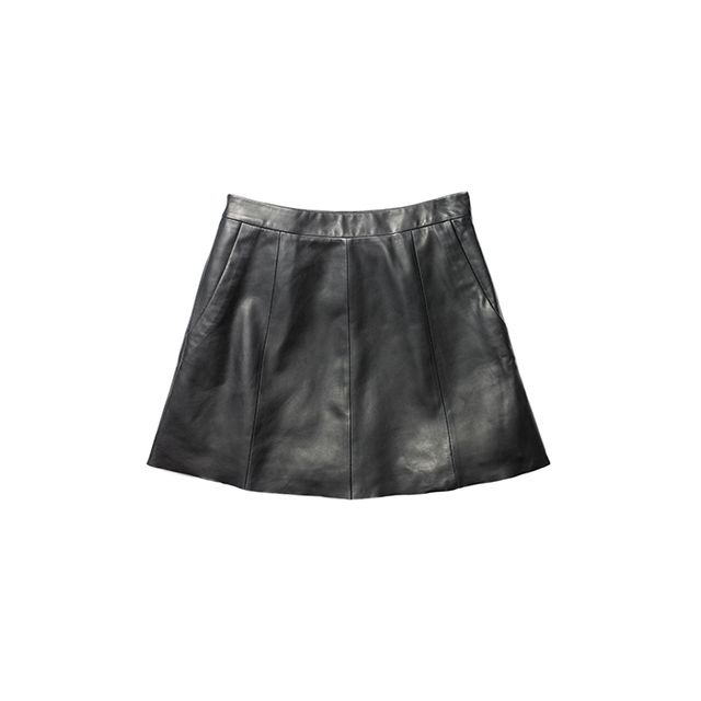 Kenneth Cole New York Leather Mini Skirt