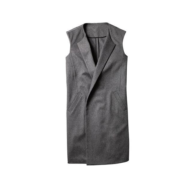 Kenneth Cole New York Blended Cashmere Long Vest