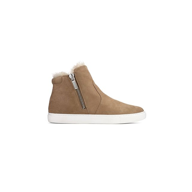 Kenneth Cole New York Kiera Faux-Fur and Leather High-Top Sneaker
