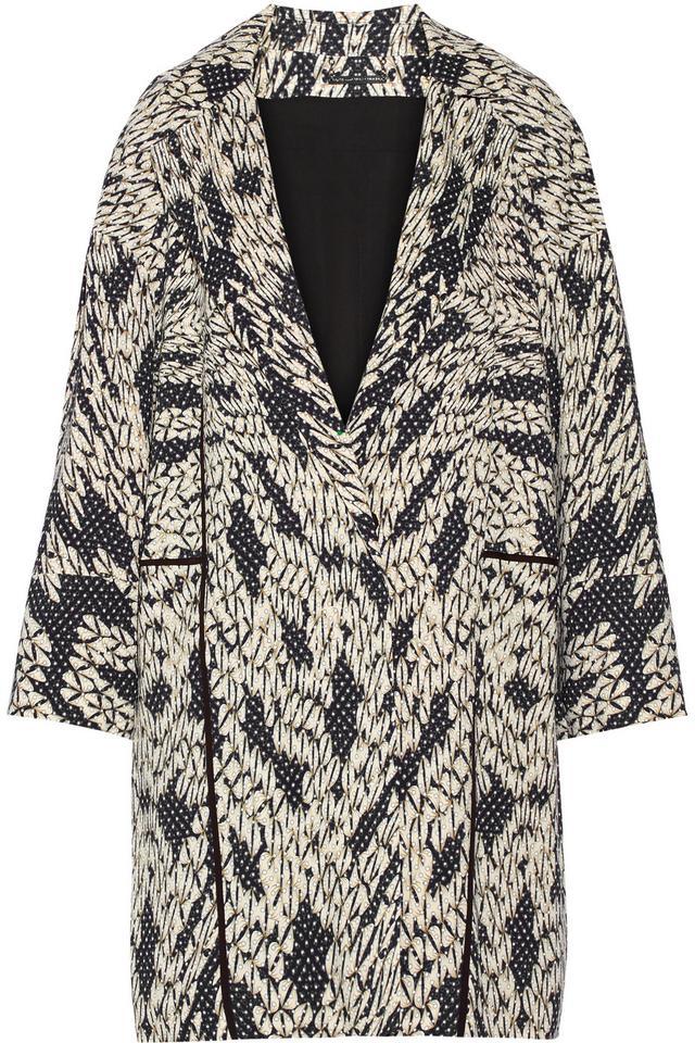 Diane von Furstenberg Vivienne Printed Jersey Coat