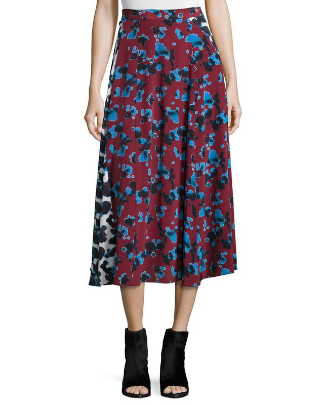 Tanya Taylor Jackson Ink Spot Midi Skirt