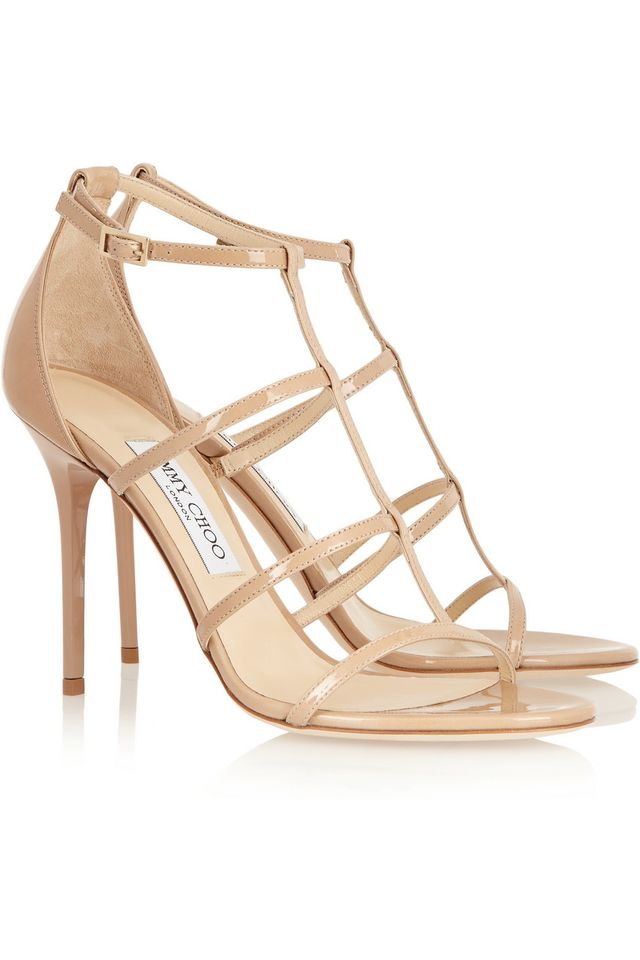 Jimmy Choo Dory Patent-Leather Sandals