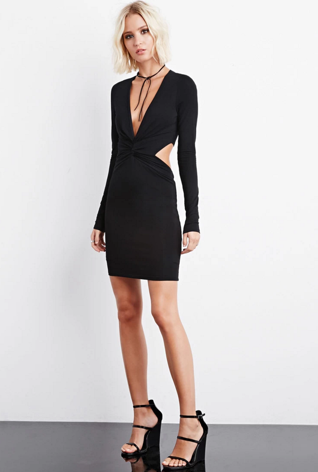 Forever 21 Rise of Dawn Jersey Cutout Dress