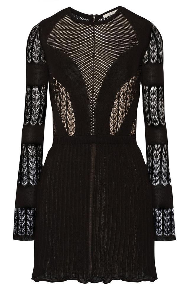 Dagmar Elisa Open-Back Lace and Stretch-Knit Mini Dress