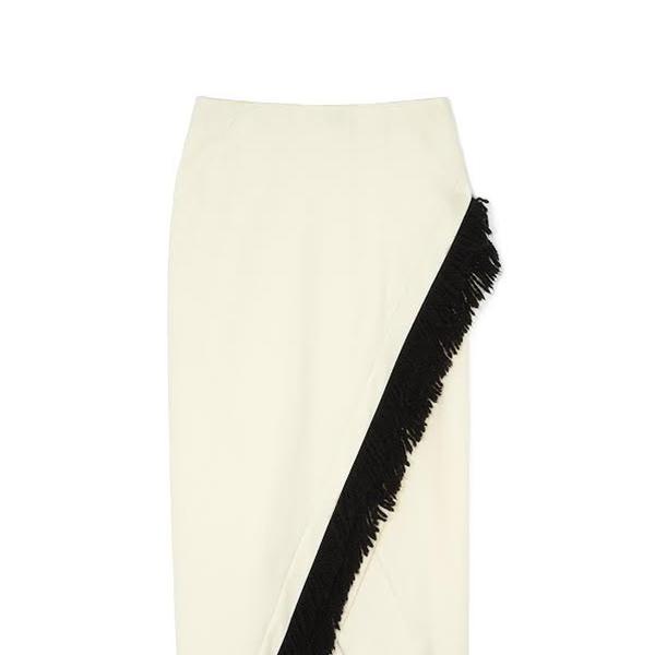 Zero + Maria Cornejo Mylla Skirt in White Pepper