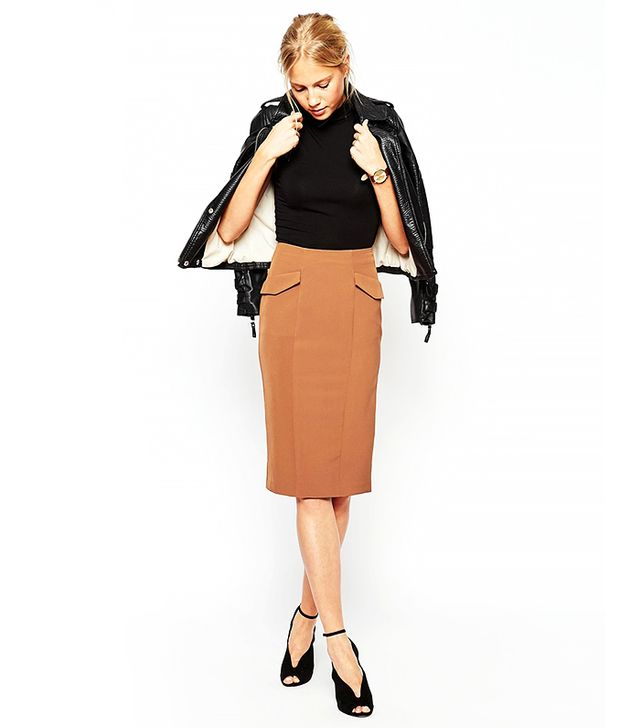 ASOS Pencil Skirt With Military Pockets