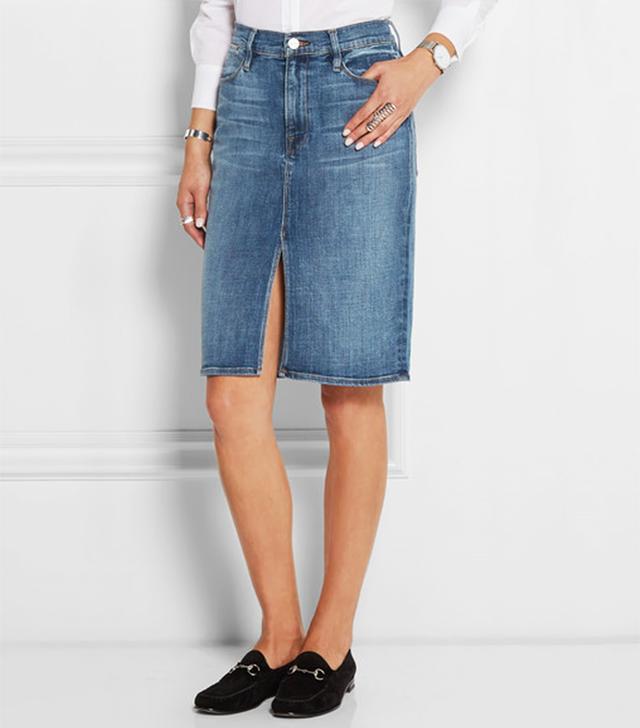 Frame Denim Le Pencil Denim Skirt