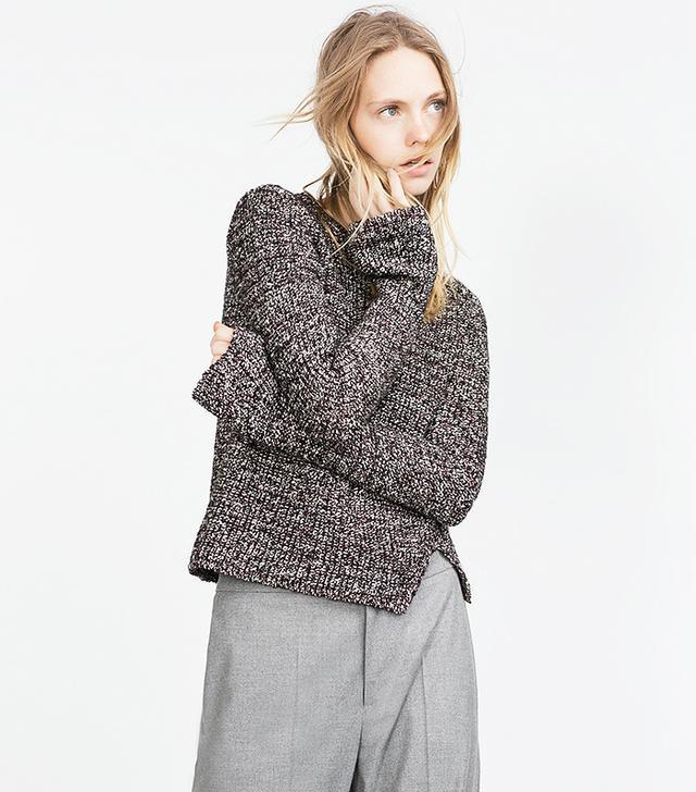 Zara Belled Sleeve Sweater