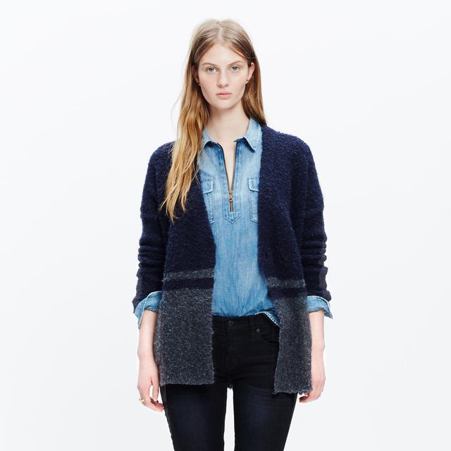 Madewell Bouclé Cardigan Sweater