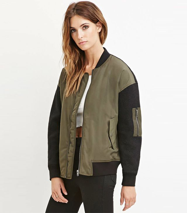 Forever 21 Contemporary 1993 Graphic Bomber Jacket