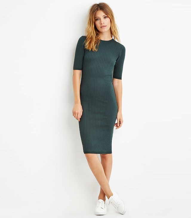 Forever 21 Contemporary Ribbed Knit Bodycon Dress