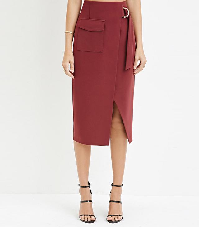 Forever 21 Contemporary D-Ring Slit Pencil Skirt