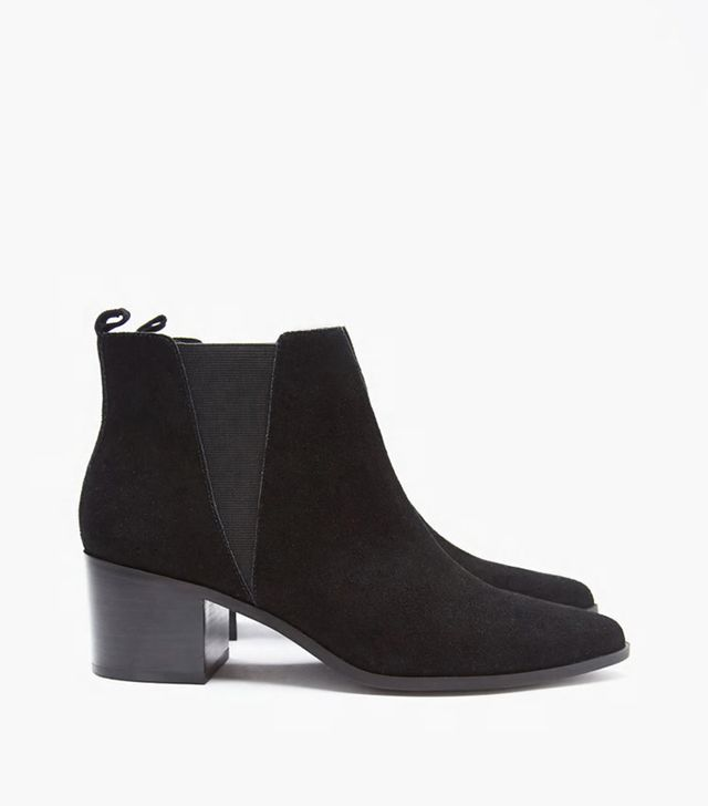 Forever 21 Genuine Suede Chelsea Boots