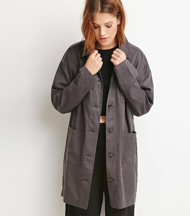 Forever 21 Contemporary Oversized Longline Coat