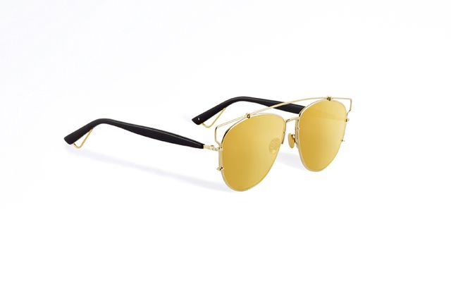 Dior Gold-Tone Technologic Sunglasses